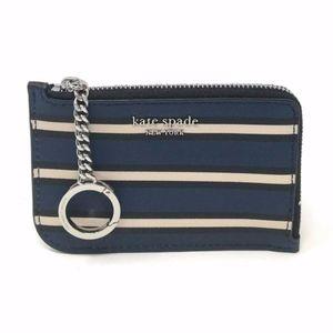 Kate Spade Cameron Stripe Zip card holder